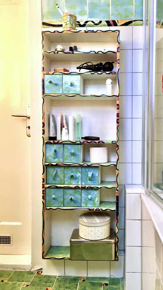 Badezimmer Schrank aus Keramik von Guido Kratz aus Hannover