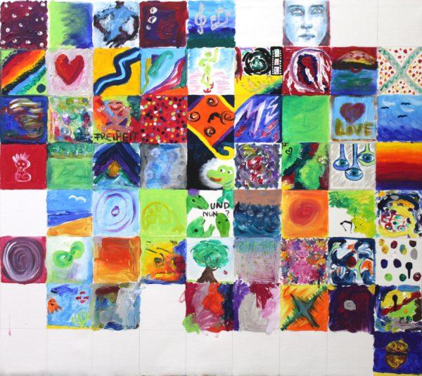 Gemeinschaftsbild entstanden im Atelier von Guido Kratz und R.F.Myller in Hannover