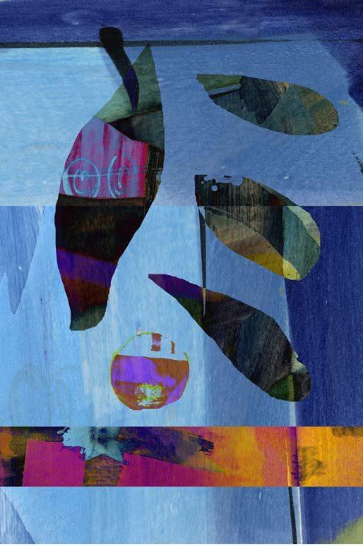 """""""Blau Balu"""", digitale Grafik und Fine Art Print von Guido Kratz aus Hannover"""