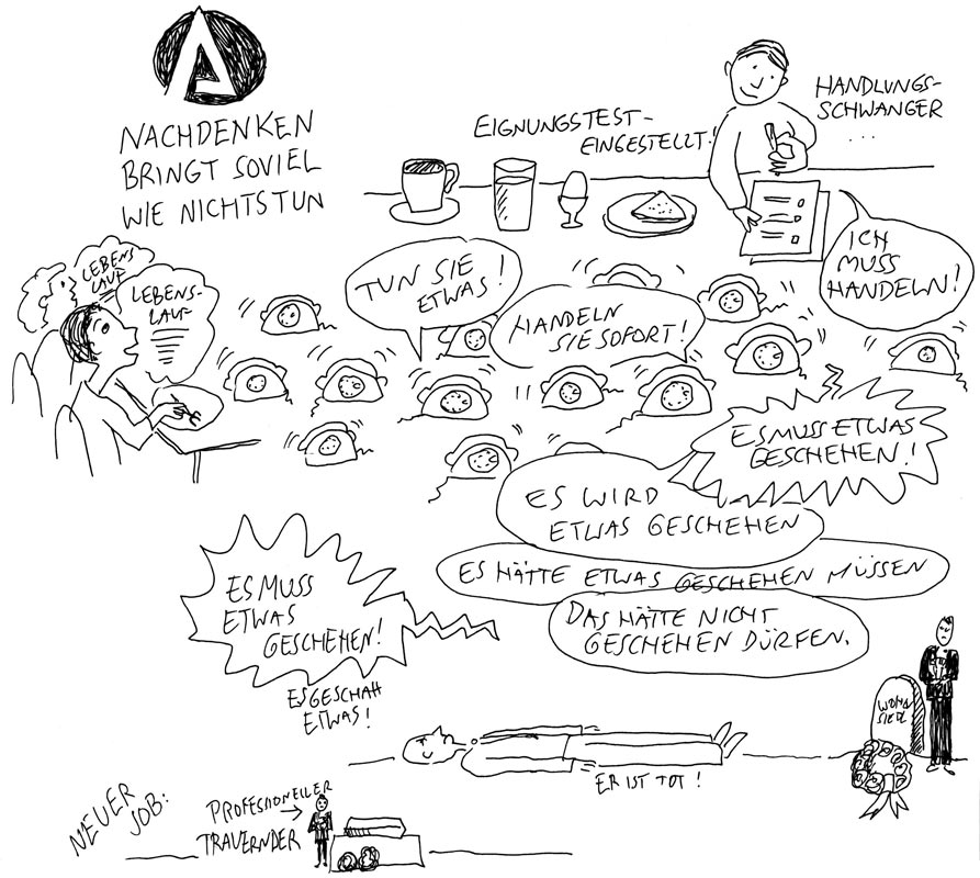 Günther Barton und Lars Stoermer lesen Böll im Atelier von Guido Kratz, Anja Weiss zeichnet 02