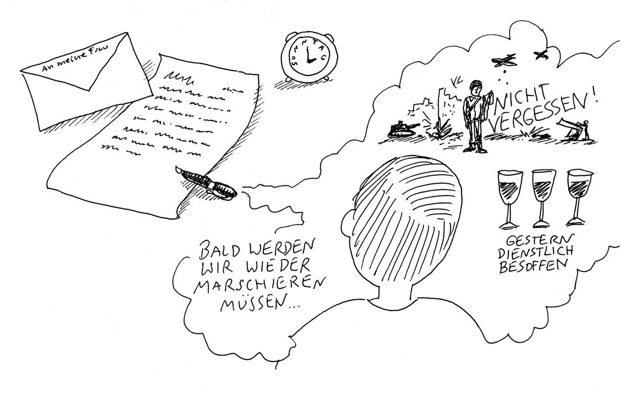 Günther Barton und Lars Stoermer lesen Böll im Atelier von Guido Kratz, Anja Weiss zeichnet 03