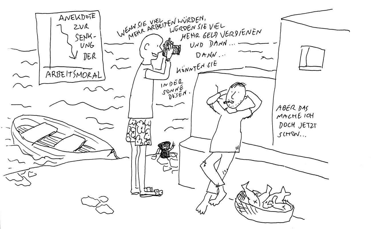Günther Barton und Lars Stoermer lesen Böll im Atelier von Guido Kratz, Anja Weiss zeichnet 06