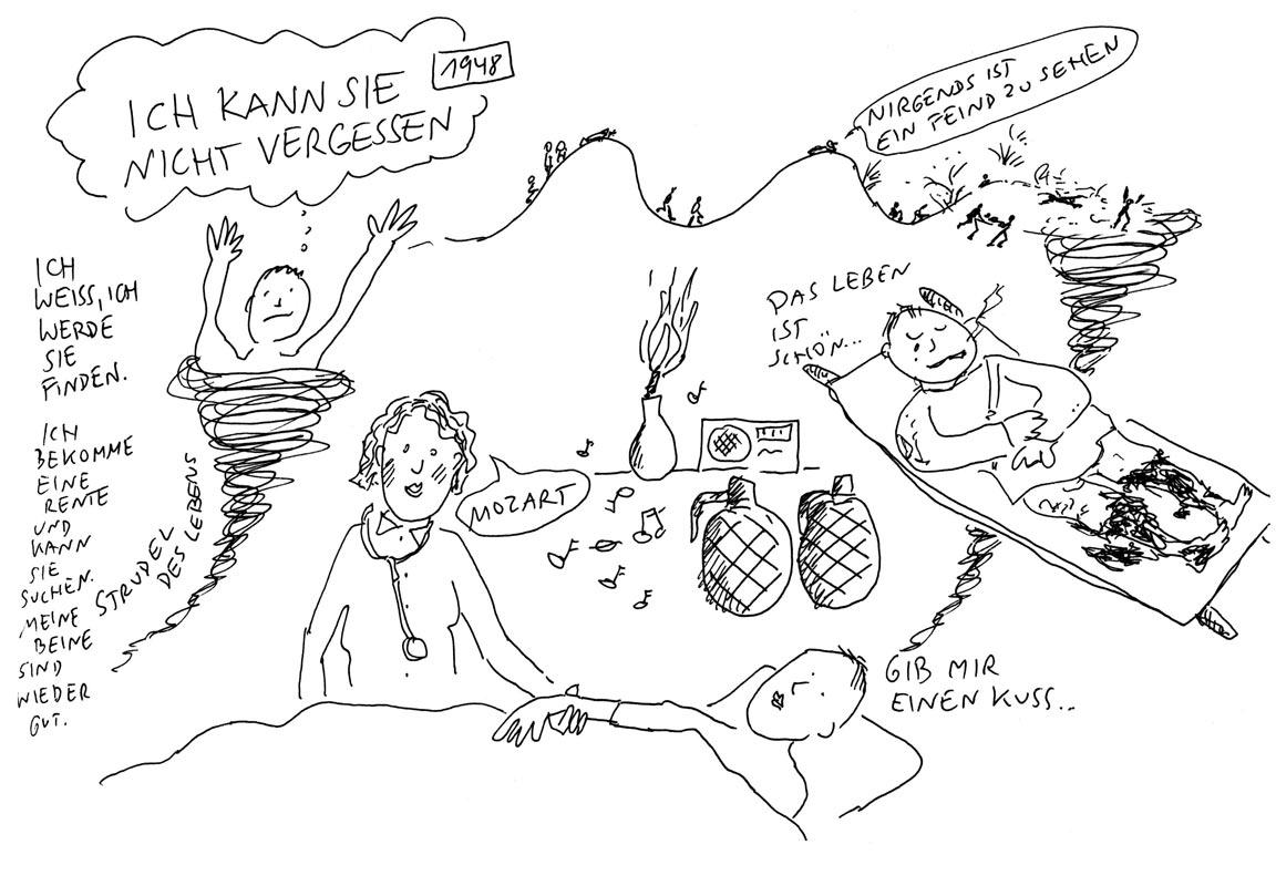 Günther Barton und Lars Stoermer lesen Böll im Atelier von Guido Kratz, Anja Weiss zeichnet 08