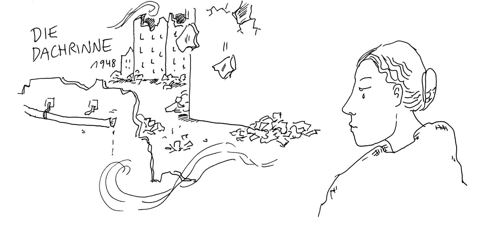 Günther Barton und Lars Stoermer lesen Böll im Atelier von Guido Kratz, Anja Weiss zeichnet 089