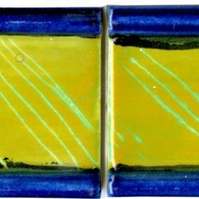 Handgezogene Bordüre blau gelb geritzt 202 von Guido Kratz