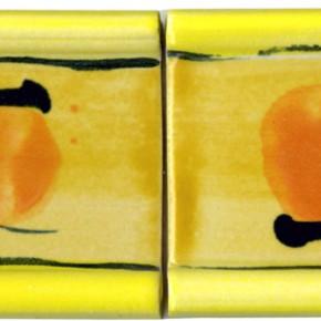 Handgezogene Bordüre gelb gelb 203 von Guido Kratz