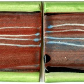 Handgeformte Bordüre rot geritzt 205 von Guido Kratz