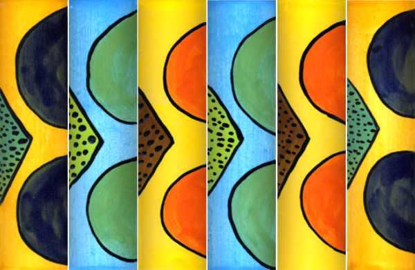 Handgemachte Keramik Bordüren Dreieck Kreis von Guido Kratz aus Hannover