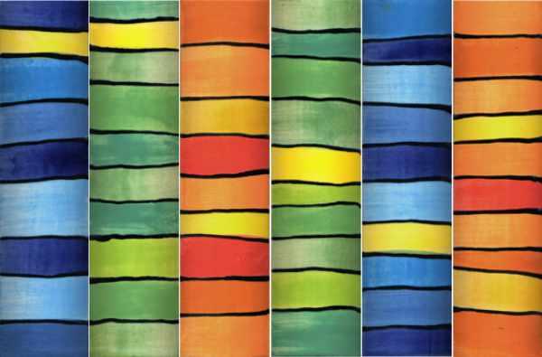 Handgemachte Keramik Bordüren mit Streifen von Guido Kratz aus Hannover