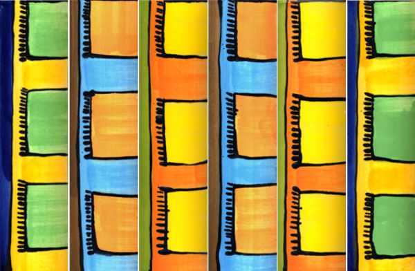 Handgemachte Keramik Bordüren mit Teppichmuster von Guido Kratz aus Hannover