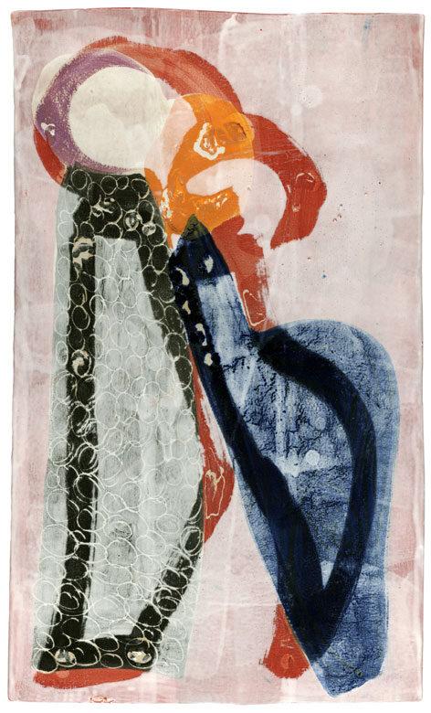 """""""Closed Tango 1"""" Hochtemperaturmalerei von Guido Kratz"""