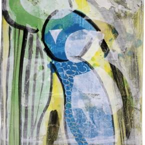 """""""Closed Tango 4"""" Hochtemperaturmalerei von Guido Kratz"""