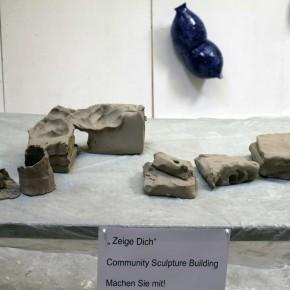 Community Sculpture Building beim Zinnober Kunstvolkslauf 2015 im Atelier von Guido Kratz 01