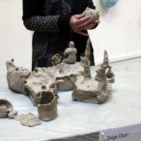 Community Sculpture Building beim Zinnober Kunstvolkslauf 2015 im Atelier von Guido Kratz 03