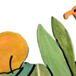 Handgeschnittene und bemalte Bordüre Dschungel mit Tieren 312 von Guido Kratz