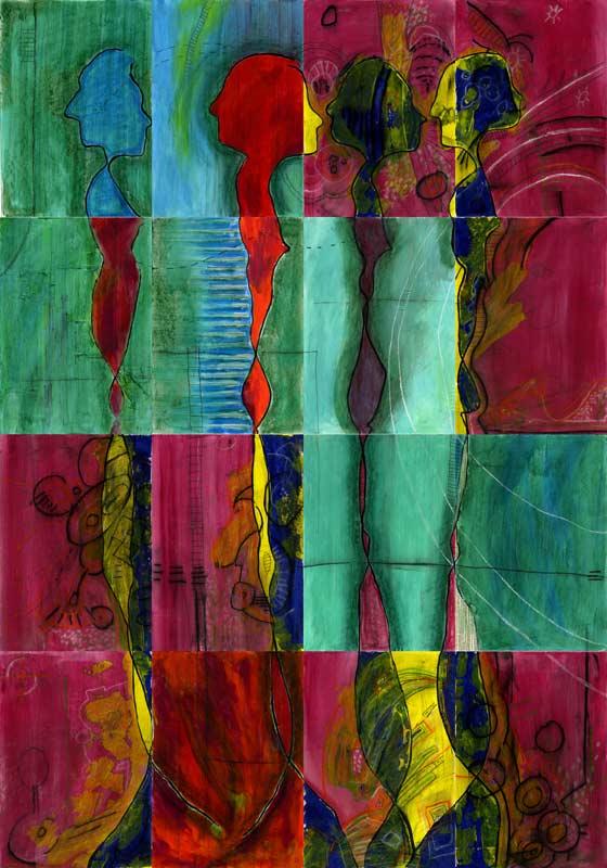 """""""Durchdringung 02"""", Bild aus einem Kunstprojekt von Guido Kratz und Anja Weiss aus Hannover"""