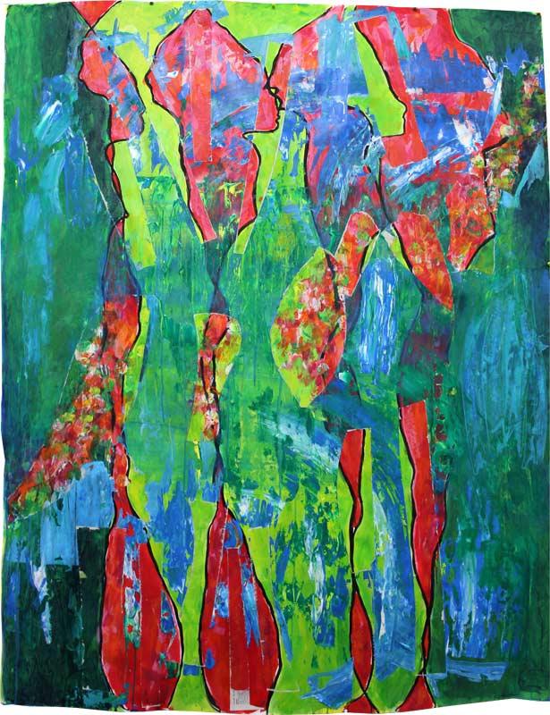 """""""Durchdringung 03"""", Bild aus einem Kunstprojekt von Guido Kratz und Anja Weiss aus Hannover"""