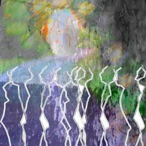 """""""Durchdringung 04"""", Bild aus einem Kunstprojekt von Guido Kratz und Anja Weiss aus Hannover"""