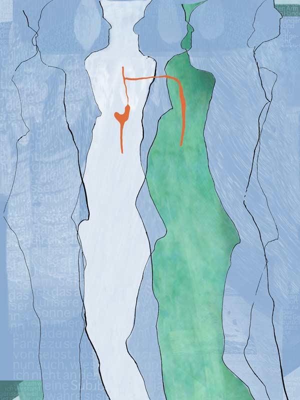 """""""Durchdringung 12"""", Bild aus einem Kunstprojekt von Guido Kratz und Anja Weiss aus Hannover"""