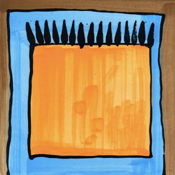 Handgemalte Fliesen Teppich orange von Guido Kratz aus Hannover