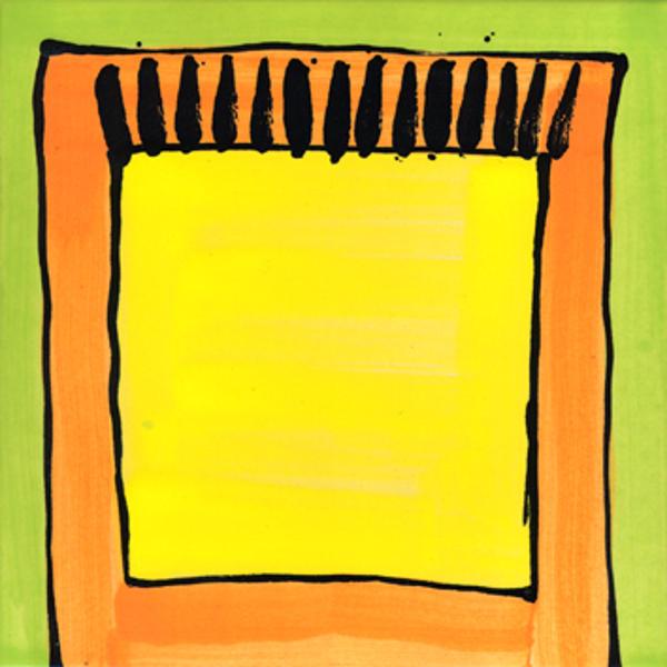 Handgemalte Fliesen Teppich gelb von Guido Kratz aus Hannover
