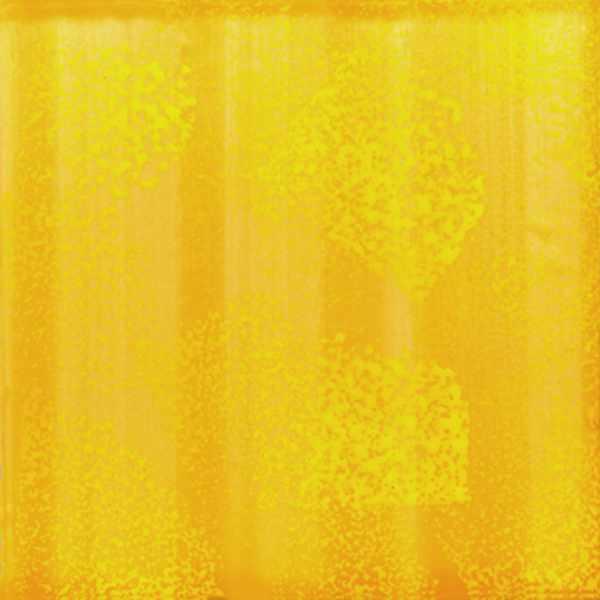 Keramik Fliese Schwammdekor gelb sonnengelb von Guido Kratz aus Hannover