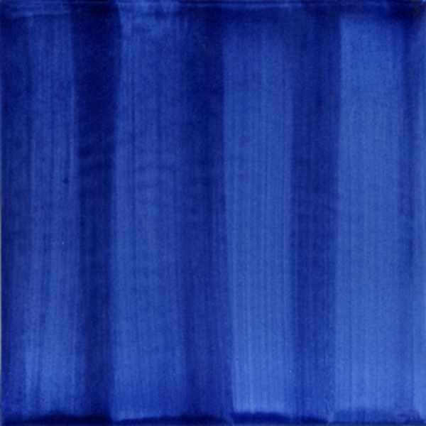 Handgestrichene Keramikfliese dunkelblau von Guido Kratz aus Hannover