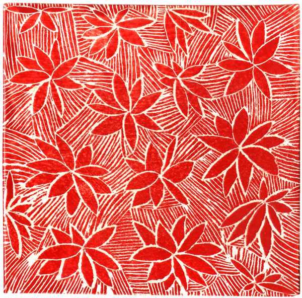 Handgemachte Fliese sgrafitto rot von Guido Kratz aus Hannover