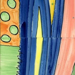 Ein Fliesenbild aus 6 bemalten Fliesen von Guido Kratz aus Hannover