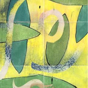 Ein Fliesenbild aus 14 handbemalten Fliesen von Guido Kratz aus Hannover