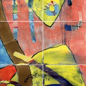Ein Fliesenbild aus 14 bemalten Fliesen von Guido Kratz aus Hannover