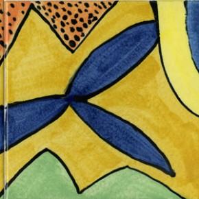 Ein Fliesenbild aus 9 farbig bemalten Fliesen von Guido Kratz aus Hannover