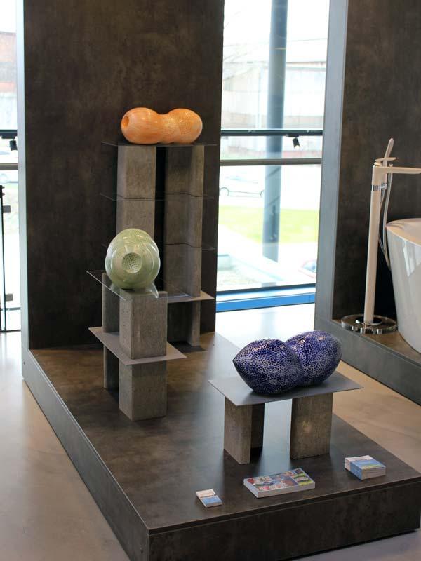 Gefäße von Guido Kratz in der Wiedemann Bad Ausstellung in Hannover 03
