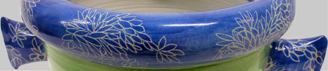 Großer Pflanztopf aus handgedrehter Keramik von Guido Kratz aus Hannover