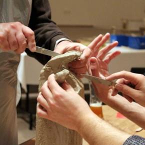 Kreativer Skulpturenworkshop mit der IG BCE von Guido Kratz aus Hannover Bild 03