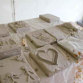 Ein Skulpturen-Workshop in Wilhelm gefeller Bildungszentrum mit IGBCE von Guido Kratz aus Hannover Bild 2