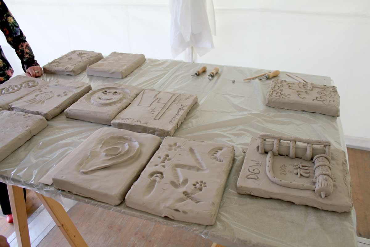 Ein Skulpturen-Workshop in Wilhelm gefeller Bildungszentrum mit IGBCE von Guido Kratz aus Hannover Bild 3