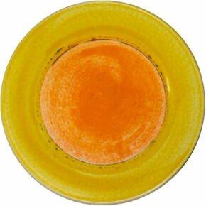 Keramik Pflasterstein rund bemalt punkt gelb von Guido Kratz aus Hannover