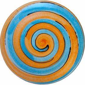 Keramik Pflasterstein rund bemalt spirale von Guido Kratz aus Hannover