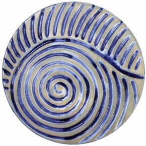 Keramik Pflasterstein rund rutschfest blau 25cm von Guido Kratz aus Hannover