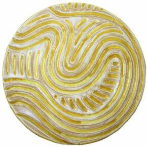 Keramik Pflasterstein rund rutschfest gelb 25cm von Guido Kratz aus Hannover