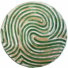 Keramik Pflasterstein rund rutschfest grün 25cm von Guido Kratz aus Hannover