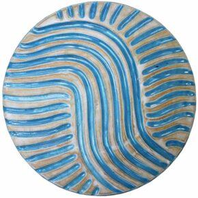 Keramik Pflasterstein rund rutschfest türkis 20cm von Guido Kratz aus Hannover