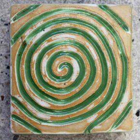 Keramik Pflasterstein rutschfest 10 x 10 grün von Guido Kratz aus Hannover