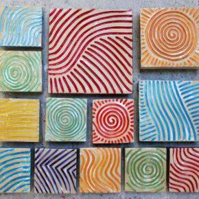 Rutschfeste handgearbeitete Keramikpflastersteine von Guido Kratz aus Hannover
