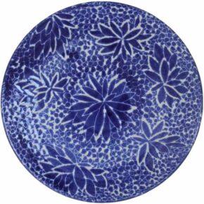 Keramik Pflasterstein sgraffito rund dunkelblau von Guido Kratz aus Hannover