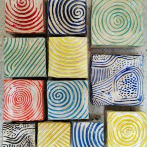 Keramik Pflastersteine 10 x 10 rutschfest gemischt von Guido Kratz aus Hannover