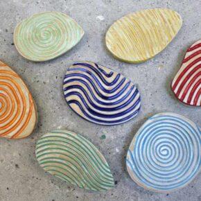 Keramik Pflastersteine rutschfest oval von Guido Kratz aus Hannover