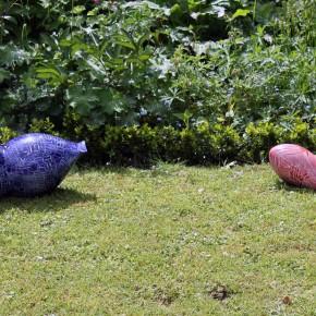 Keramikobjekte von Guido Kratz aus Hannover in der offenen Pforte 13