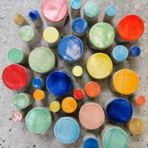 Keramikpflastersteine rund in vielen Farben von Guido Kratz aus Hannover